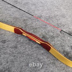 15-50lb Traditional Recurve Bow Longbow Wooden Horsebow Handmade Archery Hunting