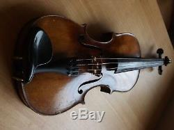 1880 Hand Made German Antique Violin complete with bow, strings, case and tuners