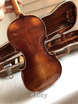 1974 E. R. Pfretzschner 4/4 Violin Bow Hardshell case Handmade copy of Strat ROTH