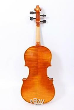 3/4 Violin Flame maple Spruce Ebony Fittings Hand Made Violin Case Bow For Child