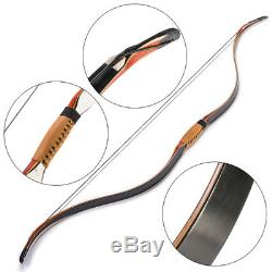 30-45lbs 50 Inch Archery Handmade Wood Recurve Bow Laminated Limbs For Hunting