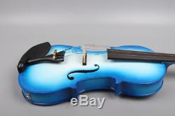 4/4 Electric Acoustic Violin With Case Bow Solid Maple Spruce Hand made
