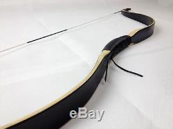 45Lb Vintage Laminated Recurve Bow Hunting Bamboo Wood Longbow Handmade Horsebow