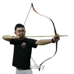 49inch Archery Traditional Handmade Horseback One-piece Laminated Fiberglass Rec