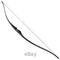 60'' Traditional Archery 30-45lbs Handmade Recurve Bow Longbow Hunting Shooting