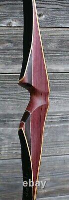 62'' hand made hybrid longbow 47#@28'
