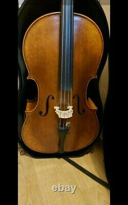 7/8 Cello, Handmade From Ro, included bow and soft padded case