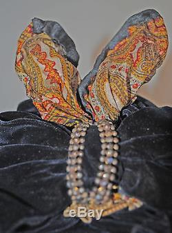 ANTIQUE WOMEN'S HAT 1880's WOVEN STRAW HAT BONNET WITH BOW MUSEUM DE-ACCESSIONED