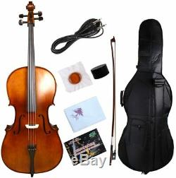 Advance 4/4 Electric Cello Maple Spruce Hand Made Wonderful Sound Cello Bow Bag