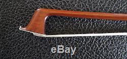 Alecio Reis 4/4 -Violin Bow, Silver mounter Pernambuco -Hand made in Brazil