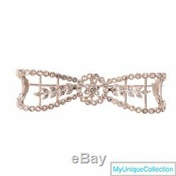 Antique 1.40ct Diamond Platinum Filigree Bow Brooch Pin 12.1 Grams