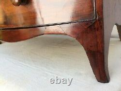 Antique Georgian Bow Fronted Chest of Drawers Mahogany Veneered Two Over Three