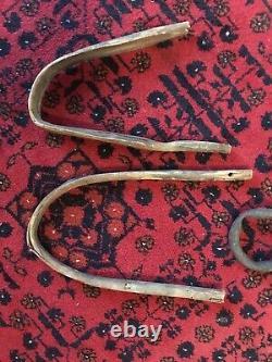 Antique Handmade Double Bow Wood Calf Training Yoke Farm Display Abby