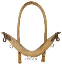 Antique Primitive Handmade Single Bow Ox Yoke Farm Tool