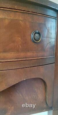 Antique Regency Bow Fronted Console Hallway Sideboard Bookcase Table Desk