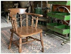 Antique Windsor Captain's Chair Bow Backed Chair Farmhouse Chair C. 1890s in VGC