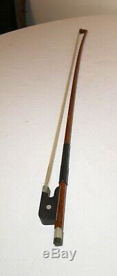 Antique handmade wood German H. Francis Lang violin bow viola cello 28.5in 84g