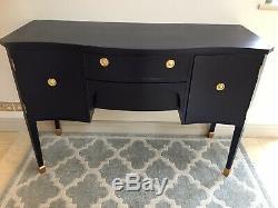 Antique sideboard tv cabinet vintage regency style Bow Fronted Vanity