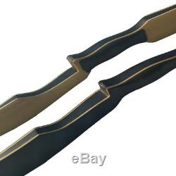 Archery Traditional Recurve Bow Longbow Handmade Laminated Horsebow Hunting 60