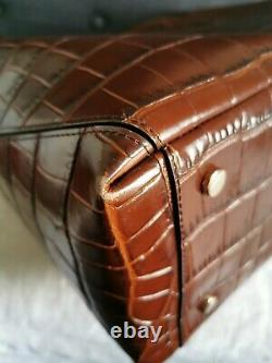 Aspinal of London tote bag -RRP£650 large/ leather deep Shine brown Soft Croc