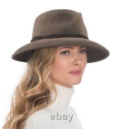 Authentic NWT NYC Eric Javits Designer Women's Hat Anette in Taupe