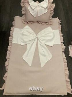 BOW BEDDING Baby Personalised bedding PillowithCushion/bumper