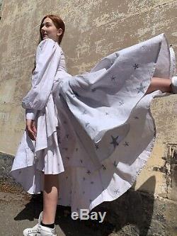 Batiki Puff Sleeve Hand Made Star Vintage Style Batik Rap Dress Size 12
