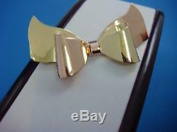 Beautiful Victorian 14k Rose And Yellow Gold Bow Brooch, 7.2 Grams