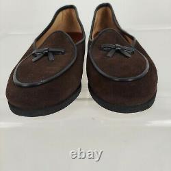Belgian Shoes Brown Suede Travelette Loafers Bow Sz 6 Wide READ DESCRIPTION