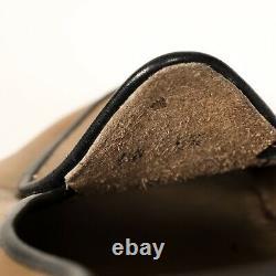 Belgian Shoes Leather Midinette Slipper Loafer w Bow Camel Tan w Gray 6.5 W