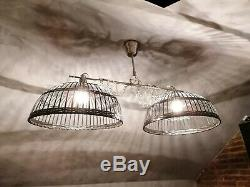 Bespoke Bird Cage Bow Pendant Lamp ceiling light Black and Steel