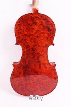 Bird Eye Maple Violin 4/4 Hand made Stradivari Professional With Case Bow #1502