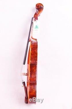 Birdeye Maple Violin 4/4 Hand made Stradivari Professional With Case Bow #1502