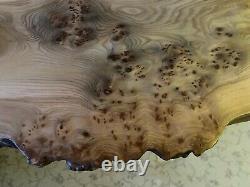 Burr Oak Coffee Table. Hairpin Legs. Waney Live Edge. Rustic. Chunky. Walnut Bows