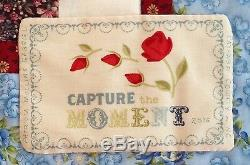 CAPTURE THE MOMENT HANDMADE WALLHANGING QUILT 32x32 Blue Burgundy Beige Bow Tie