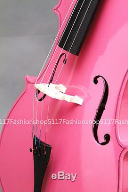 CLASSIC 1/2 SIZE Pink CELLO HANDMADE QUALITY WITH AND BOW AND ROSIN
