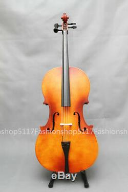 CLASSIC 1/4 SIZE Brown CELLO HANDMADE QUALITY WITH AND BOW AND ROSIN