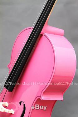 CLASSIC 1/4 SIZE Pink CELLO HANDMADE QUALITY WITH AND BOW AND ROSIN