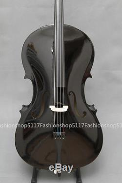 CLASSIC 4/4 SIZE Black CELLO HANDMADE QUALITY WITH AND BOW AND ROSIN