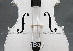 CLASSIC 4/4 SIZE White CELLO HANDMADE QUALITY WITH AND BOW AND ROSIN