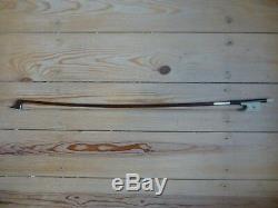 Cello Bow, Superior Brazilwood, White Frog, Hand Made, Great Balance, Uk Seller