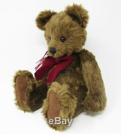 Charlie Bears original Daniel 2006 brown teddy bear red bow Isabelle Lee CB35910