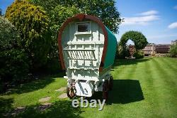 Children's Hand Made Bow Top Gypsy Caravan Play House