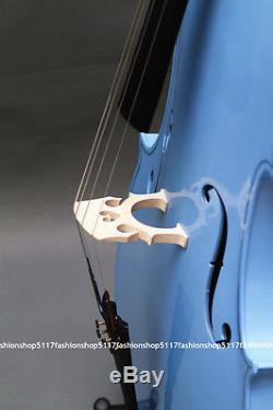 Classic 1/4 Size Blue Cello Handmade Quality With And Bow And Rosin