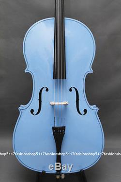 Classic 4/4 Size Blue Cello Handmade Quality With And Bow And Rosin