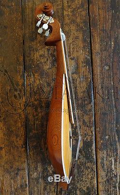 Cretan lyra (Walnut-Cedar Lebanon) professional with bow and case handmade