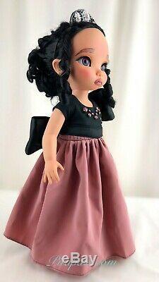Custom Disney Animator Doll Pocahontas in big bow pink princess dress