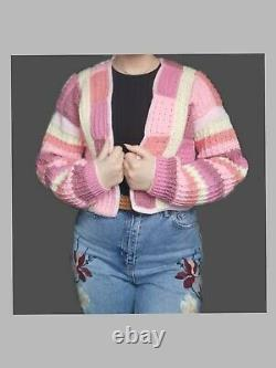 Custom Handmade Crochet Patchwork Cardigan