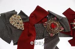 DOLCE & GABBANA Belt Waist Crystal Brooches Hand Made IT42/ US8 / M