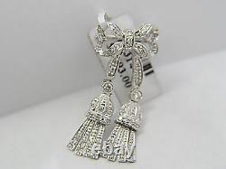 Diamond Round Brilliant Shape Bow Diamond Pin Diamond Brooch